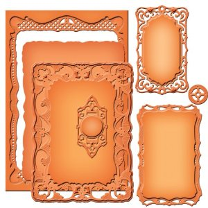 Spellbinders S5-161 Majestic Elements Nestabilities Radiant Rectangle�-