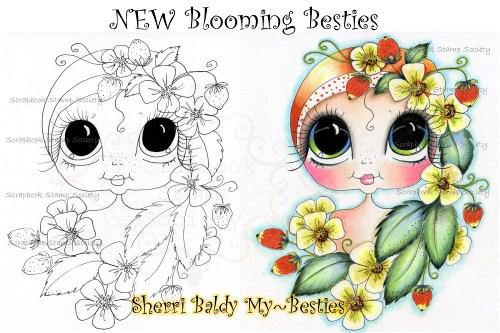 Bloomin Besties Digi Stamp-