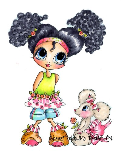 My-Besties Brittany & Mouse Fine Art Print-my besties, sherri baldy, prints
