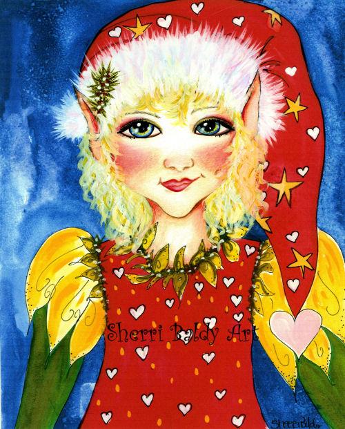 Christmas Elf Hearts-
