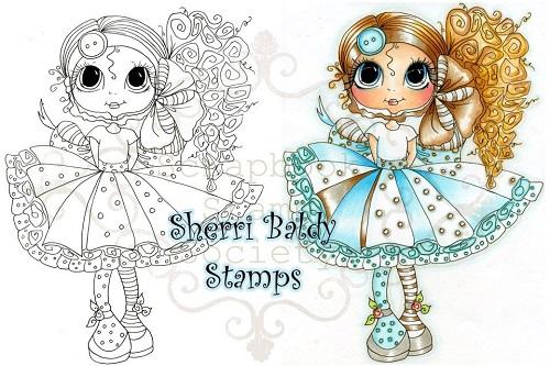 My-Besties digi stamp Curly Jean-My Besties, digi stamp