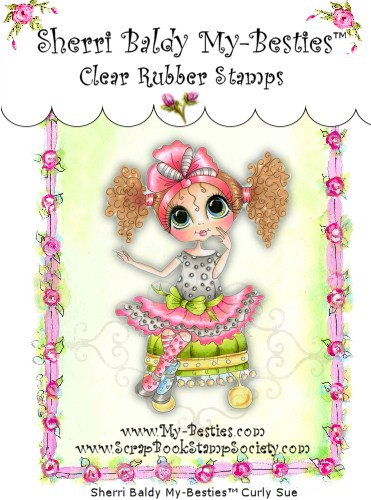 Clear Rubber Stamps Curley Sue My-Besties-
