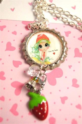 Strawberry Girl My -Bestie Bling Necklace-