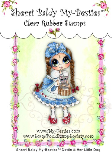 Clear Rubber Stamps Dottie & Her Little Dog My-Besties-