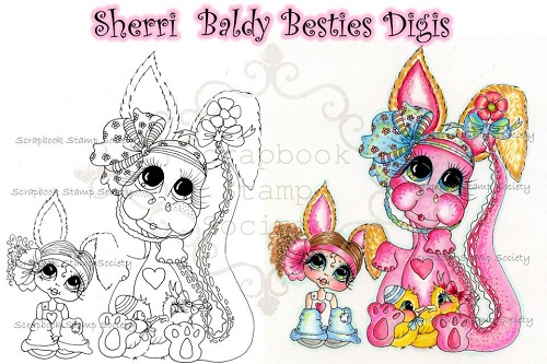 My-Besties digi stamp Easter Bestie Friends-My Besties, digi stamps, Easter, Tiny