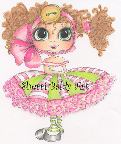 My-Besties Ella Bella Buttons Fine Art Print-