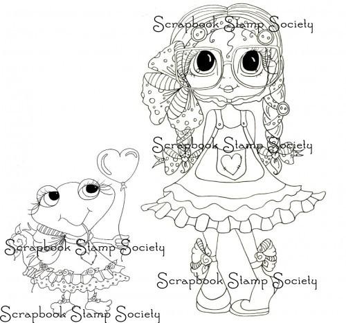 My Bestie digi stamp Ella and Pinkles Happy Day-My besties, digi stamps