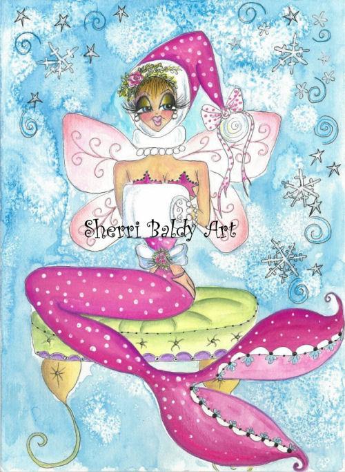 Pink Mermaid Fairy-