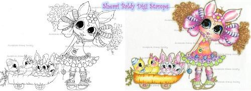 My-Besties digi stamp Free Carrot Rides-My Besties, digi stamps, Easter