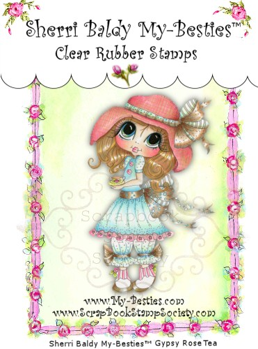 Clear Rubber Stamps Gypsy Rose Tea My-Besties-
