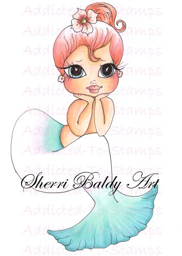 My-Besties Lil Ragamuffin Mermaid Lilly Fine Art Print-