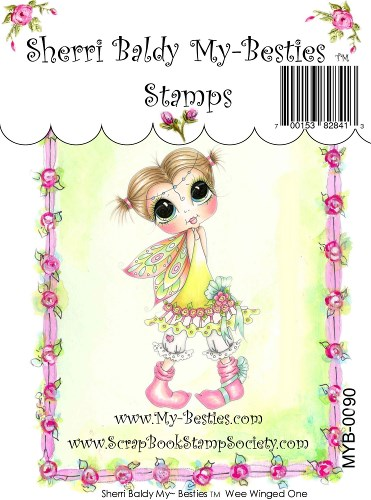 Clear Rubber Stamp Wee Winged One Fairy-