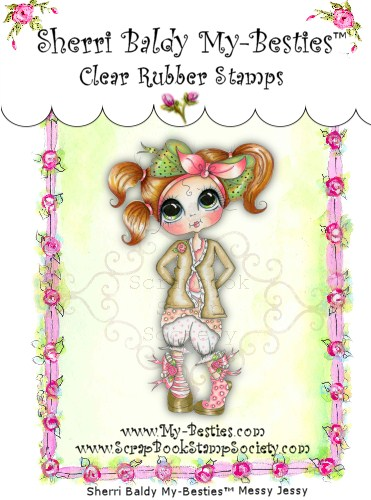 Clear Rubber Stamps Messy Bessy Olivia Odd Socks  My-Besties-