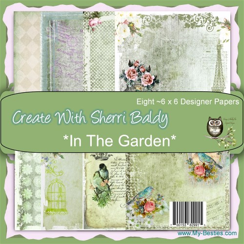 "Create With Sherri Baldy Designer Papers 8 Pack ""In The Garden"" 6x6-"
