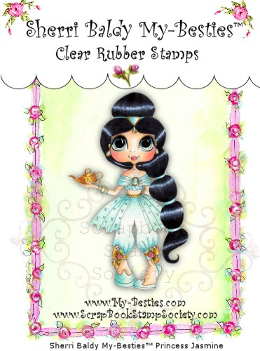 Clear Rubber Stamps Princess Jasmine My-Besties-