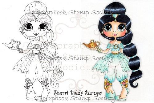 My-Besties digi stamp Princess Jasmine-My Besties, Digi stamps,princess