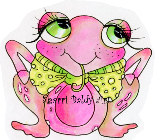 My-Besties Project2 PINKLES the FROG  Fine Art Print-