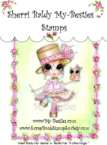 Clear Rubber Stamp A Little Magic-Sherri Baldy, my besties, digi stamps, rubber stamps, big eyed, dolls, Messy Bessy,