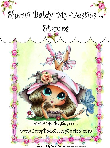 Clear Rubber Stamps Butterfly Betsy  My-Besties-Sherri Baldy, Digi Stamps, My Besties, Big eyed art  Rubber stamps, clear stamps