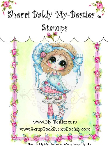 Clear Rubber Stamp Messy Bessy Frilly Lilly  My-Besties-