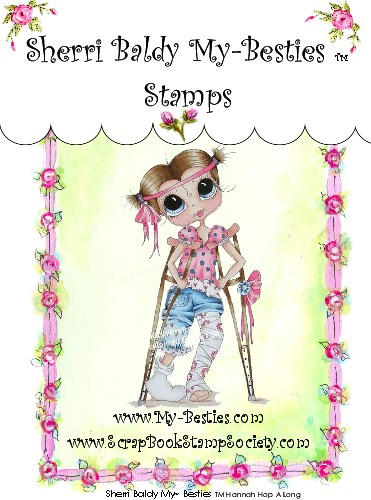 Clear Rubber Stamps Hannah Hop A Long  My-Besties-Sherri Baldy, my besties, digi stamps, rubber stamps, big eyed, dolls, Messy Bessy,