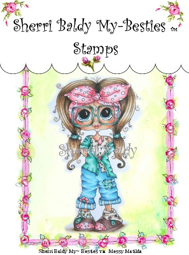 Clear Rubber Stamp Messy Matilda-