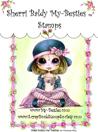 Clear Rubber Stamps Primrose Polly My-Besties-Sherri Baldy, Digi Stamps, My Besties, Big eyed art  Rubber stamps, clear stamps