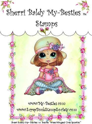 Clear Rubber Stamp Remember To Be Kind One-Sherri Baldy, my besties, digi stamps, rubber stamps, big eyed, dolls, Messy Bessy,