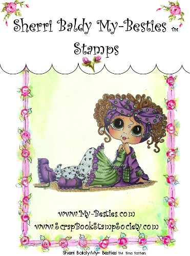 Clear Rubber Stamps Tina Tatter  My-Besties-Sherri Baldy, my besties, digi stamps, rubber stamps