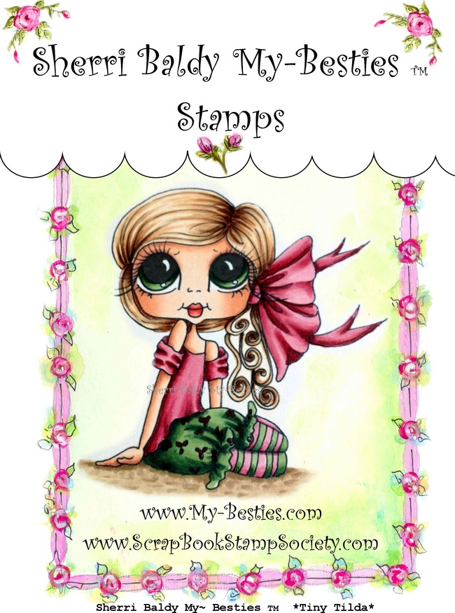 Red Rubber Tiny Tilda-Sherri Baldy, my besties, digi stamps, rubber stamps, big eyed, dolls, Messy Bessy,