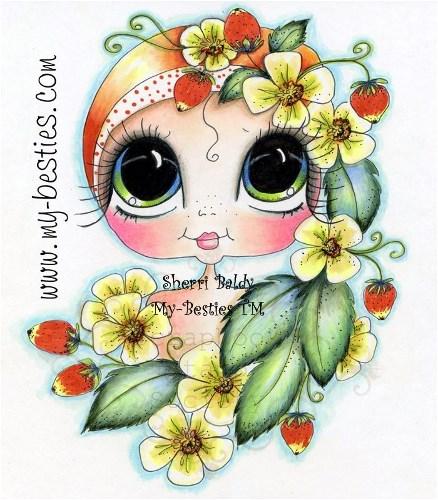 My-Bestie Strawberry Besties Sherri Baldy Fine Art Print-