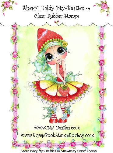 Clear Rubber Stamp Strawberry Sweet Checks  Stamp-