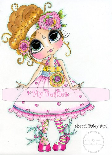 My-Besties Sweet Marylou Fine Art Print-My Besties, Messy Bessy, Sherri Baldy