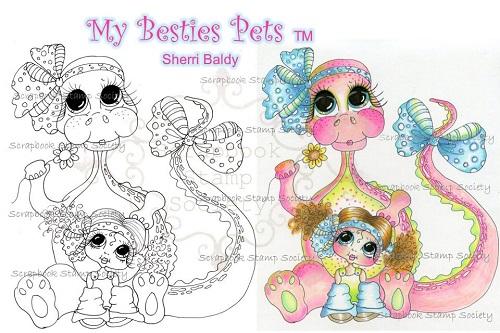 My-Besties digi stamp Tiny and Supersaurus Best Friends-My Besties, digi stamps, dinosaur, dragon