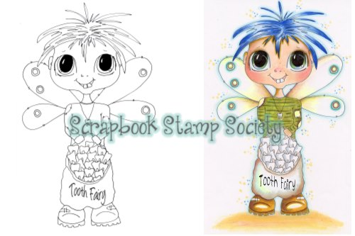 My-Besties digi stamp Tommy Toofers Tooth fairy-My Besties, digi stamps, tooth fairy
