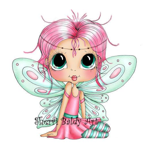 My-Besties Wee Winged One Pinky Fine Art Print-