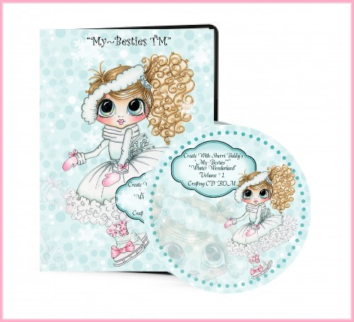 "Sherri Baldy ""Winter Wonderland"" Craft CD-Rom 1""-Sherri Baldy, My-Besties, Digis, CD, CD rom"