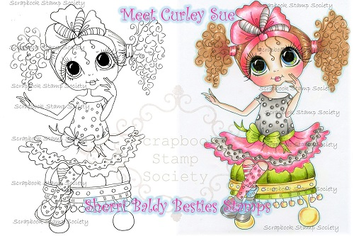 My Bestie digi stamp Curly Sue-My Besties, digi stamps