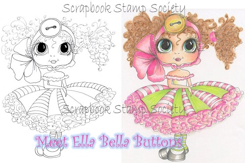 My-Besties digi stamp Ella Bella Buttons-My Besties, digi stamps