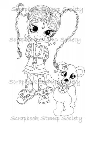 My Bestie digi stamp Ella and Cookie-my besties, digi stamps