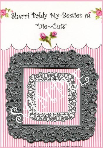 MYB-DIES1006 Paper Lace Dies  Romantic Hearts Frame-dies,Sherri Baldy, my besties, dies cuts