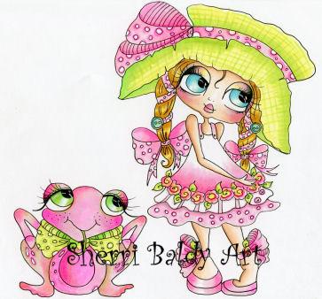 My-Besties Ella and PINKles Fine Art Print-