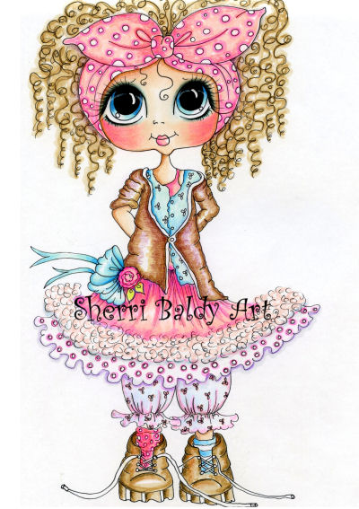 My-Besties Miss Frissy Lizzy Fine Art Print-