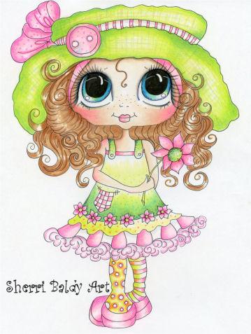 My-Besties Hattie Buttons Fine Art Print-