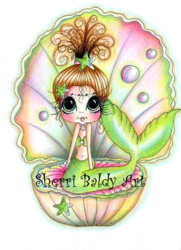 My-Besties Sweet Pearl Fine Art Print-mermaid