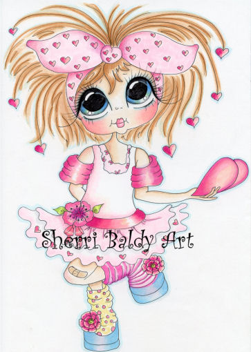 My-Besties Hearts to you Fine Art Print-