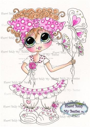 My-Besties Butterfly Balloons Sherri Baldy Fine Art Prints-
