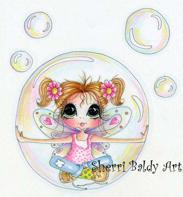 My-Besties Lil Miss Bubblelite Fine Art Print-