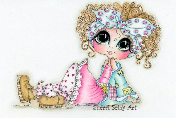 My-Besties Tattered Tina Fine Art Print-