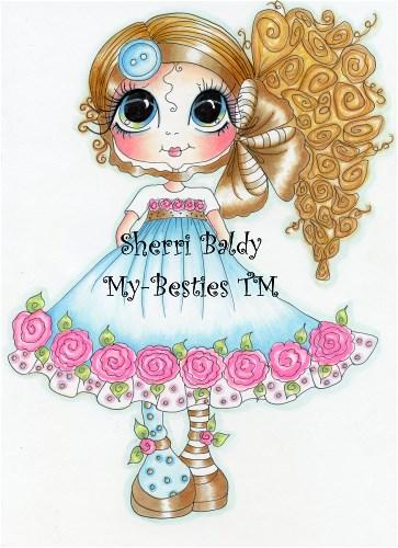 My-Besties Buttons & Roses Sherri Baldy Fine Art Prints-